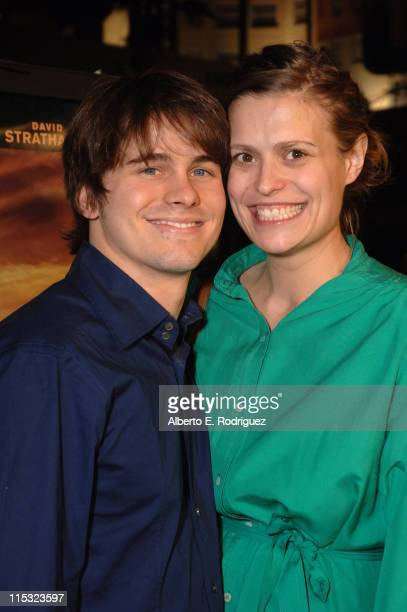 Jason Ritter and Marianna Palka during 'We Are Marshall' Los Angeles Premiere in Los Angeles CA United States