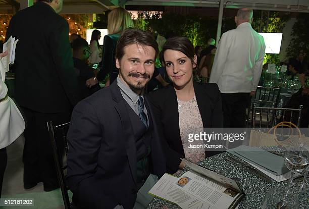 Jason Ritter and Melanie Lynskey attend Global Green USA's 13th Annual PreOscar Party at Mr C Beverly Hills on February 24 2016 in Beverly Hills...