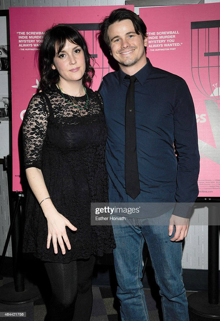 Jason Ritter and Melanie Lynskey attend 'Wild Canaries' New York Premiere at IFC Center on February 25, 2015 in New York City.