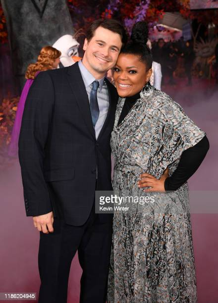 Jason Ritter and Yvette Nicole Brown attend the premiere of Disney's Frozen 2 at Dolby Theatre on November 07 2019 in Hollywood California