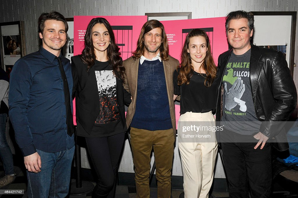 Jason Ritter, Annie Parisse, Michael Levine, Sophia Takal and Kevin Corrigan attend 'Wild Canaries' New York Premiere at IFC Center on February 25, 2015 in New York City.