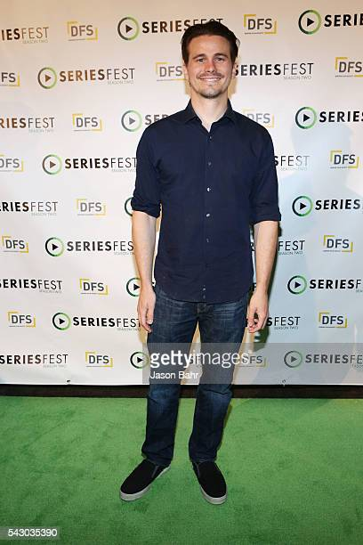 Jason Ritter arrives to the 'Journey to Success' panel for SeriesFest Season Two at Sie FilmCenter on June 25 2016 in Denver Colorado