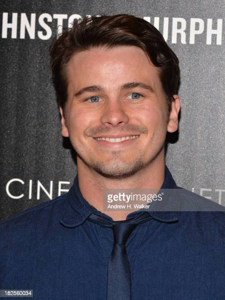 Jason Ritter attends The Cinema Society and Johnston Murphy screening of Sony Pictures Classics' Kill Your Darlings at Paris Theater on September 30...