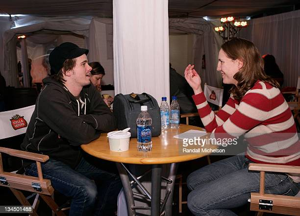 Jason Ritter attends the Stella Artois Cutting Room at the Sundance House during the 2008 Sundance Film Festival on January 24, 2008 in Park City,...