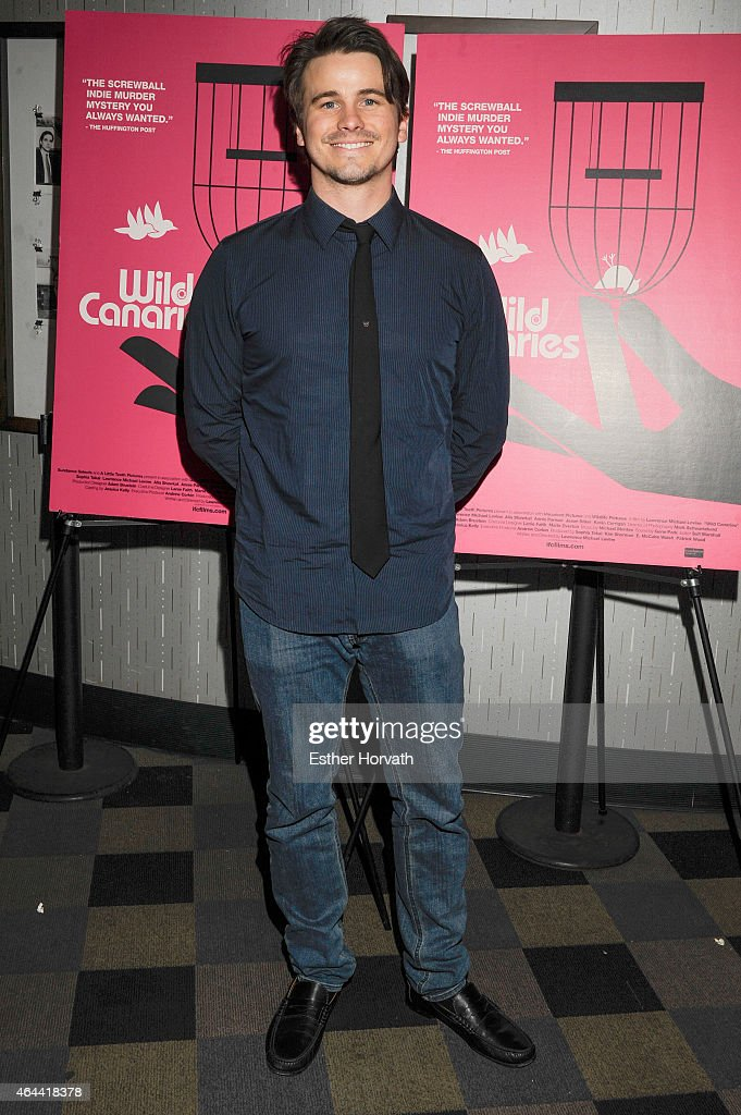 Jason Ritter attends 'Wild Canaries' New York Premiere at IFC Center on February 25, 2015 in New York City.