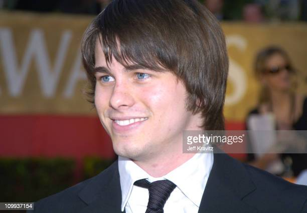 Jason Ritter during The 30th Annual People's Choice Awards Arrivals at Pasadena Civic Auditorium in Pasadena California United States