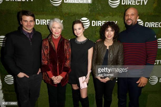 Jason Ritter Ellen Burstyn Isabelle Nelisse director/producer Jennifer Fox and Common stop by DIRECTV Lodge presented by ATT during Sundance Film...