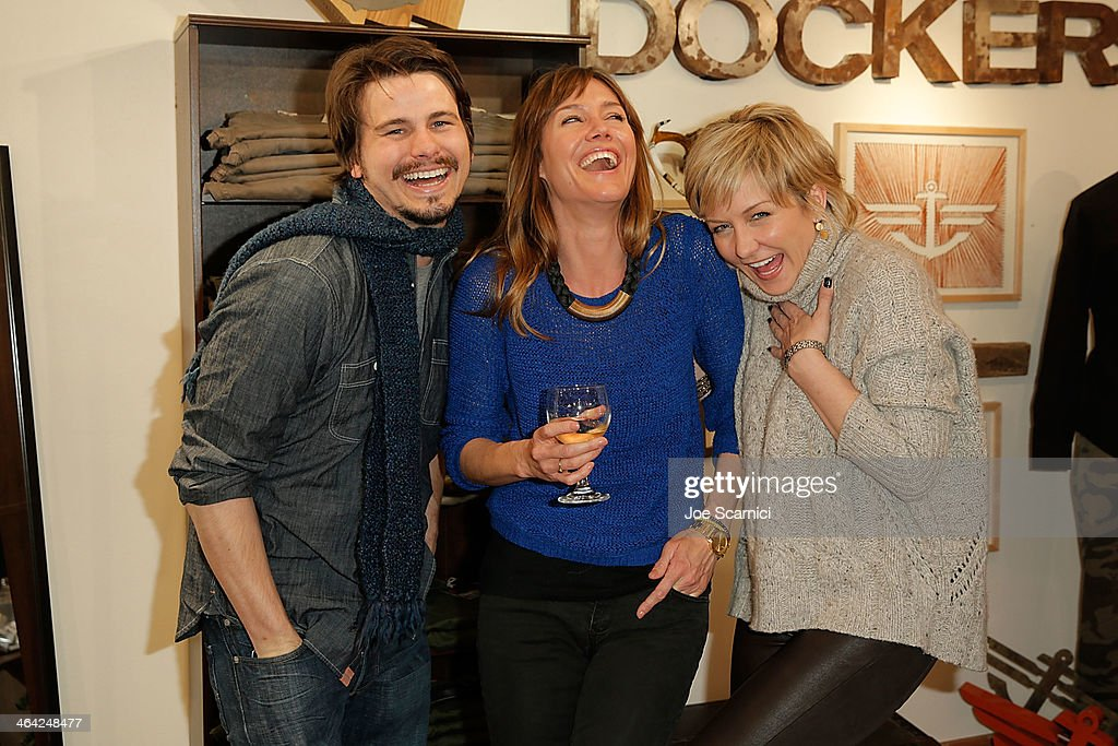 Jason Ritter, Erinn Hayes and Amy Carlson attend The Variety Studio: Sundance Edition Presented By Dawn Levy on Day 4 of the 2014 Park City2014 in Park City, Utah.