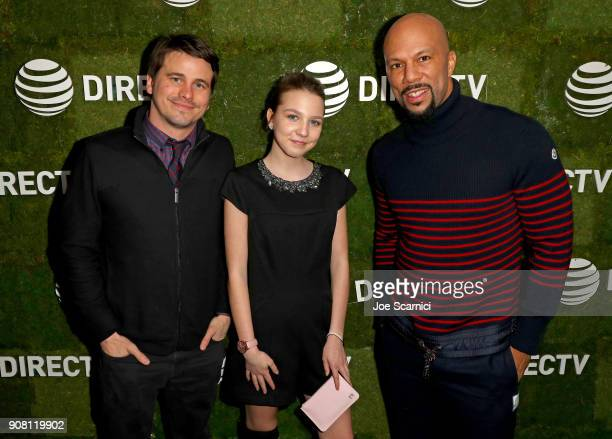 Jason Ritter Isabelle Nelisse and Common stop by DIRECTV Lodge presented by ATT during Sundance Film Festival 2018 on January 20 2018 in Park City...