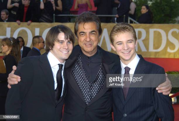 Jason Ritter Joe Mantegna and Michael Welch during The 30th Annual People's Choice Awards Arrivals at Pasadena Civic Auditorium in Pasadena...