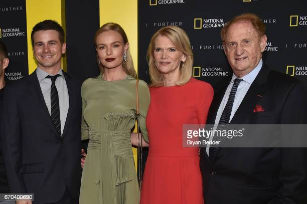 Jason Ritter Kate Bosworth Martha Raddatz and Mike Medavoy at National Geographic's Further Front Event at Jazz at Lincoln Center on April 19 2017 in...