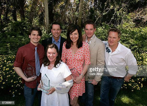 Jason Ritter Mary Badham Mark Riley Allison Janney director Cameron Watson and Richard Jenik attend the Luncheon Under The Banyans during the...