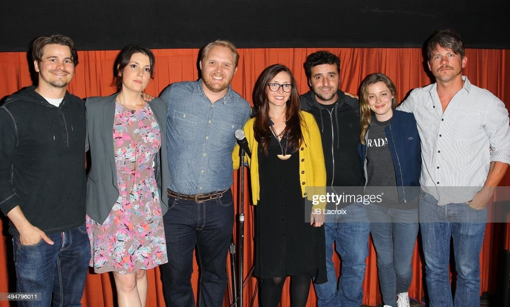 Jason Ritter, Melanie Lynskey, Thomas Beatty, Rebecca Fishman, David Krumholtz, Gillian Jacobs and Zachary Knighton attend the 'The Big Ask' Los Angeles special screening and Q&A on May 30, 2014 in Santa Monica, California.