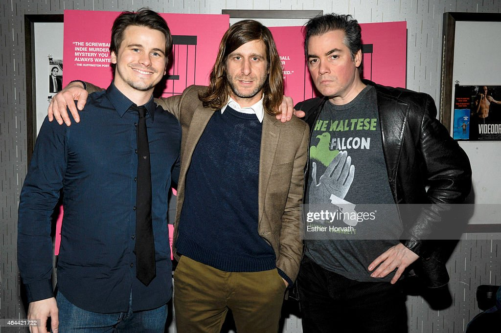 Jason Ritter, Michael Levinel and Kevin Corrigan attend 'Wild Canaries' New York Premiere at IFC Center on February 25, 2015 in New York City.