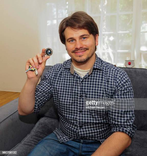 Jason Ritter receives the TAP ÒFirst BreakÓ Medallion at Artists helping Artists at TAP on June 20 2018 in Los Angeles California