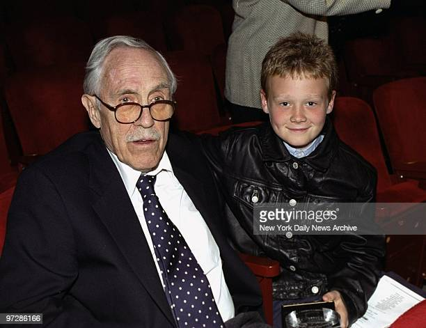 Jason Robards is present with his grandson Jasper at the Lucille Lortel Awards presentations Robards received a Lifetime Achievement Award in...