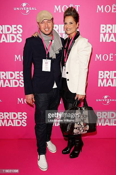 Jason Roberts and Gordana Willesee arrive at Bridesmaids Celebrity Girls Night Out to celebrate the Australian premiere at Event Cinemas George...