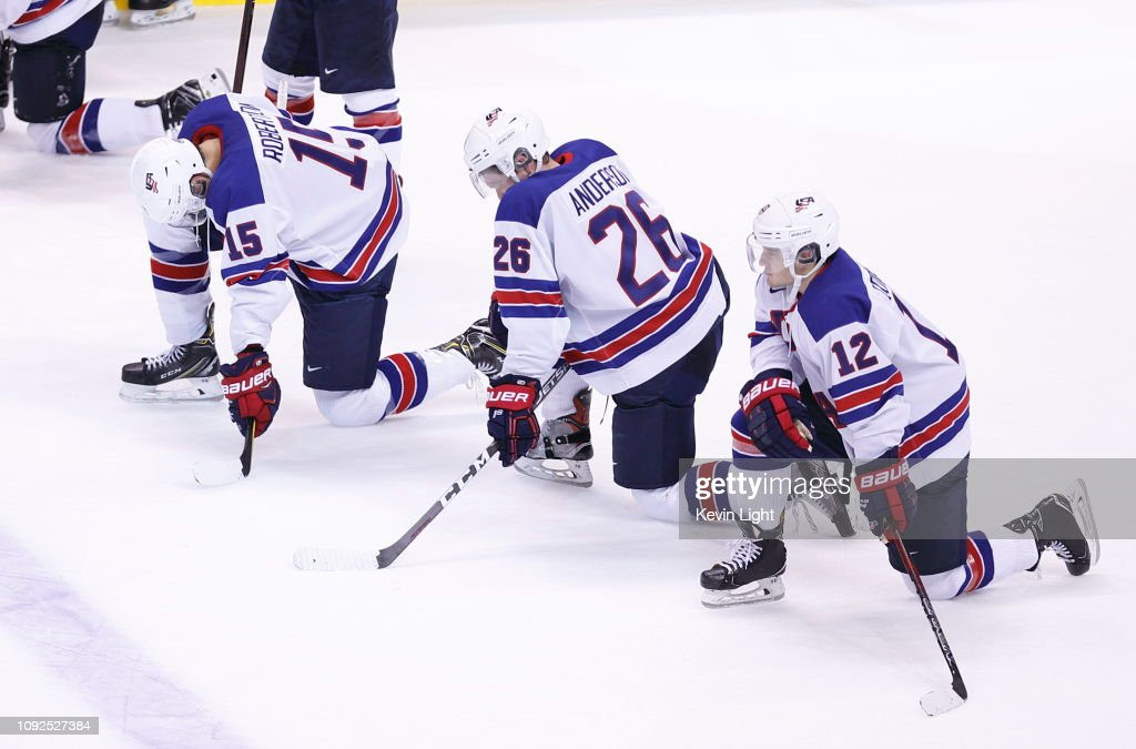 USA v Finland: Gold Medal Game - 2019 IIHF World Junior Championship : News Photo