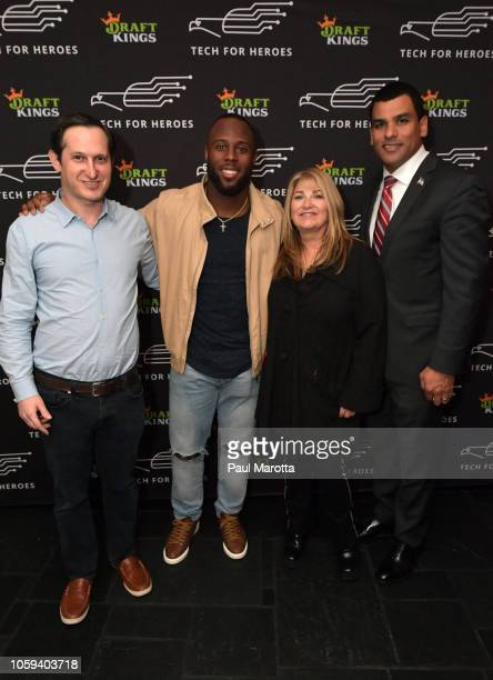 Jason Robins James White Katherine Webster and Francisco Urena attend DraftKings Hosts Veterans Appreciation Event at MJ O'Connors on November 8 2018...