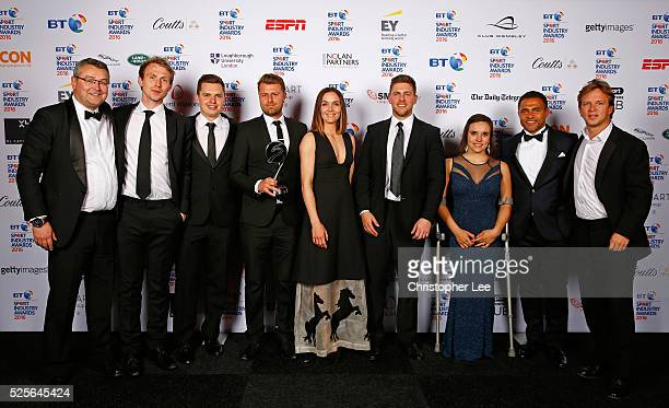 Jason Robinson and Jade Jones with Victoria Pendleton and Lee Martin of Getty Images present the Best Use of PR in association with Getty Images to...