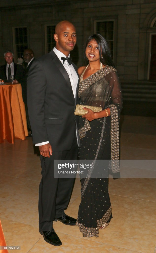 Jason Rogers and Sharon Koppula attend 2013 Multicultural Gala: An Evening Of Many Cultures at Metropolitan Museum of Art on September 23, 2013 in New York City.