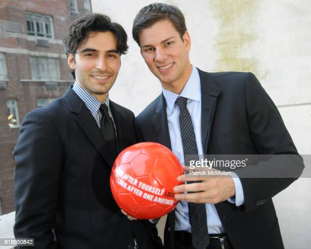 Jason Rogers and Tim Morehouse attend RIGHT TO PLAY 'En Garde' Charity Cocktail Party at Barneys New York on May 13 2010 in New York City