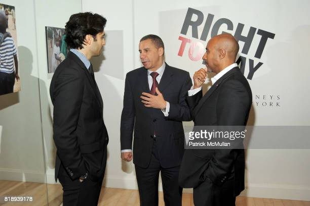Jason Rogers Governor David Paterson and Jeffrey Orridge attend RIGHT TO PLAY 'En Garde' Charity Cocktail Party at Barneys New York on May 13 2010 in...