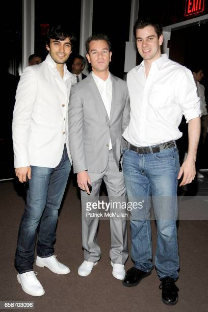 Jason Rogers Josh Reed and Tim Morehouse attend Calvin Klein Collection and Visionaire Present Visionaire 56 SOLAR at The Standard on June 1 2009 in...