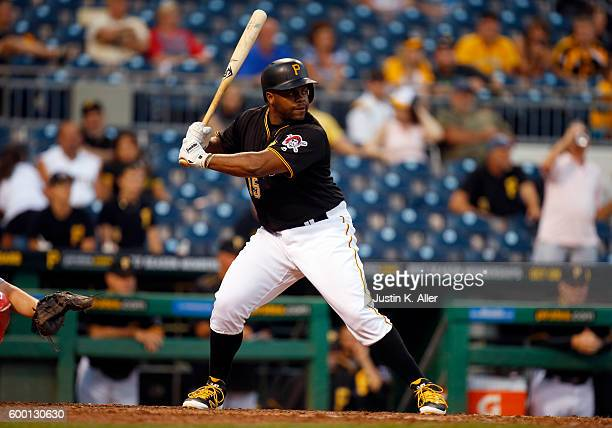 Jason Rogers of the Pittsburgh Pirates in action during the game against the St Louis Cardinals at PNC Park on September 5 2016 in Pittsburgh...