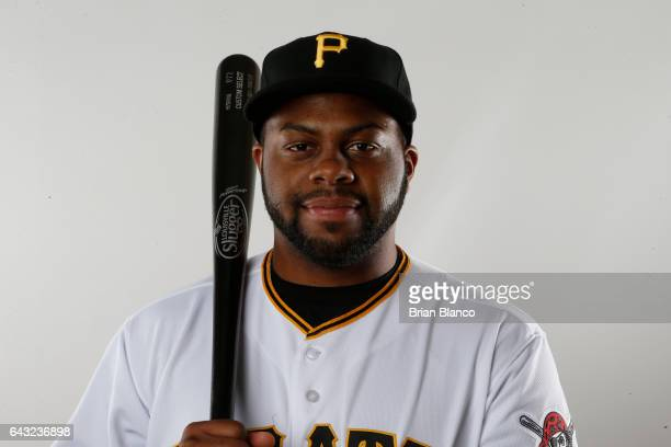 Jason Rogers of the Pittsburgh Pirates poses for a photograph during MLB spring training photo day on February 19 2017 at Pirate City in Bradenton...