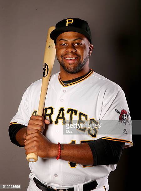 Jason Rogers of the Pittsburgh Pirates poses for a portrait on February 25 2016 at Pirate City in Bradenton Florida