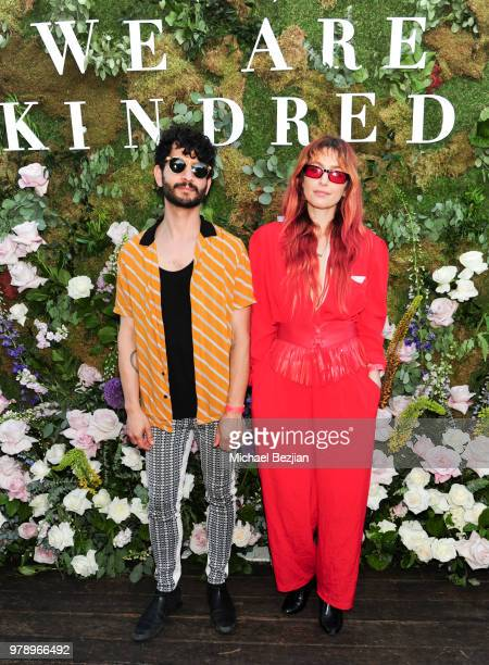 Jason Rosen and Gabrielle Wortman pose for portrait at at We Are Kindred Resort Collection Launch at EP LP on June 19 2018 in West Hollywood...