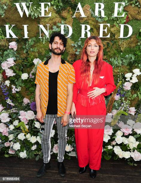 Jason Rosen and Gabrielle Wortman pose for portrait at at We Are Kindred Resort Collection Launch at E.P. & L.P. On June 19, 2018 in West Hollywood,...