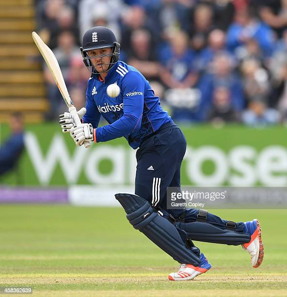 Jason Roy of England bats during 5th ODI Royal London One Day International match between England and Sri Lanka at SWALEC Stadium on July 2 2016 in...