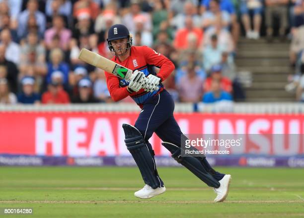 Jason Roy of England bats during the 2nd NatWest T20 International match between England and South Africa at The Cooper Associates County Ground on...