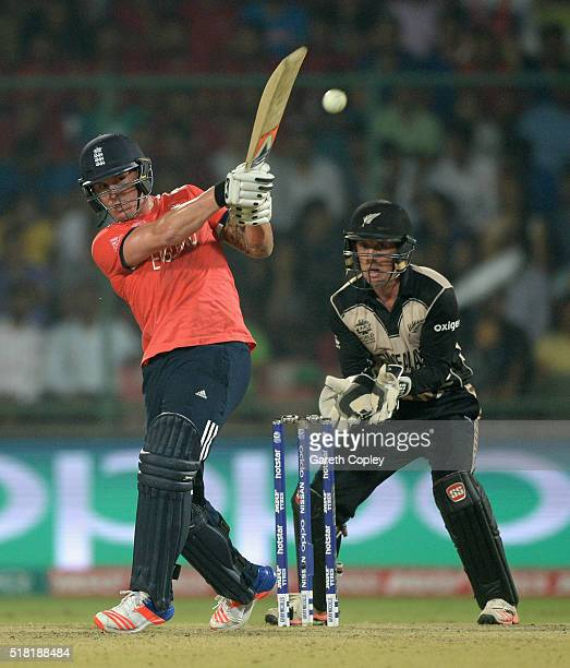Jason Roy of England bats during the ICC World Twenty20 India 2016 Semi Final match between England and New Zealand at Feroz Shah Kotla Ground on...
