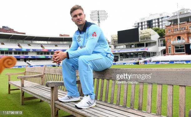 Jason Roy of England waits for a team photograph at Lords on June 24 2019 in London England