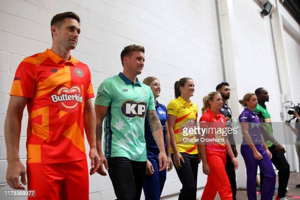 Jason Roy of Oval Invincibles one of the eight new mens and womens teams that will be competing in new 100 ball cricket competition, The Hundred,...