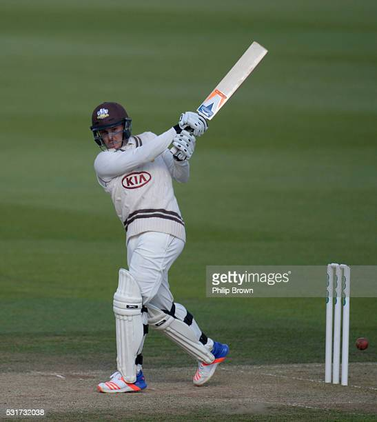 Jason Roy of Surrey bats during day two of the Specsavers County Championship Division One match between Surrey and Middlesex at the Kia Oval on May...
