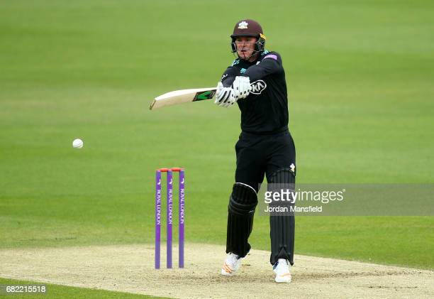 Jason Roy of Surrey bats during the Royal London OneDay Cup match between Surrey and Kent at The Kia Oval on May 12 2017 in London England
