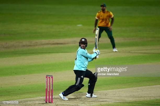 Jason Roy of Surrey bats during the T20 Vitality Blast Final between Surrey and Nottinghamshire at Edgbaston on October 04 2020 in Birmingham England