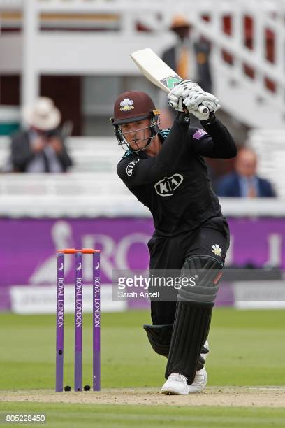 Jason Roy of Surrey hits out during the match between Nottinghamshire and Surrey at Lord's Cricket Ground on July 1 2017 in London England