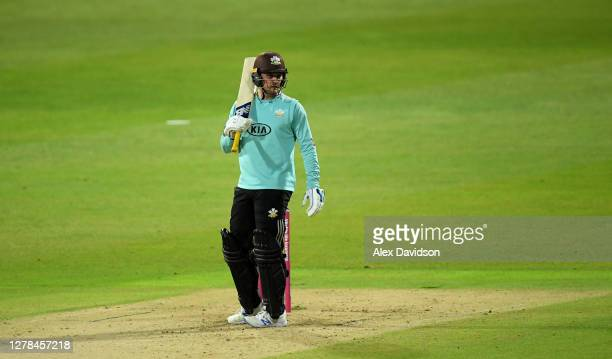 Jason Roy of Surrey looks on during the Vitality Blast 20 Final between Surrey and Notts Outlaws at Edgbaston on October 04 2020 in Birmingham England