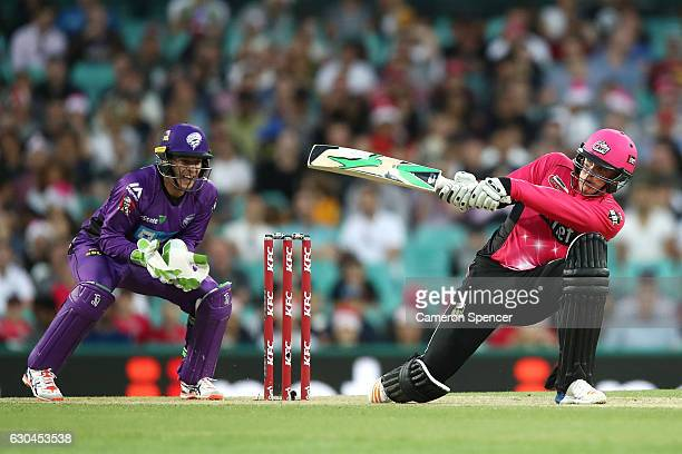 Jason Roy of the Sixers bats during the Big Bash League match between the Sydney Sixers and Hobart Hurricanes at Sydney Cricket Ground on December 23...