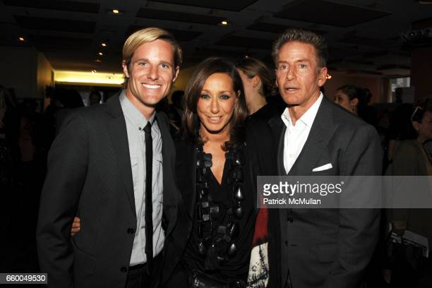 Jason Russel and Donna Karan Calvin Klein attend WELCOME TO GULU EXHIBITION AND BENEFIT ART SALE ANTIHUMAN TRAFFICKING INNITIATIVE at The United...