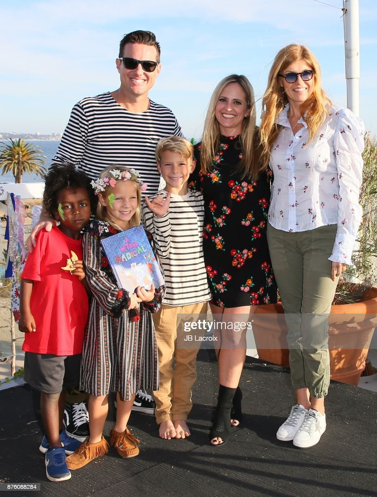 Jason Russell, Danica Russell and their children attend the launch party for 'A Little Radical: The ABC's Of Activism' hosted by Connie Britton on November 18, 2017 in Malibu, California.