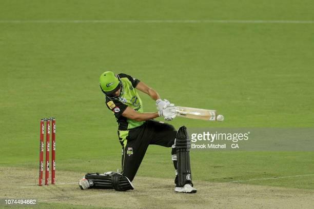 Jason Sangha of the Sydney Thunder bats during the Sydney Thunder v Melbourne Stars Big Bash League Match at Manuka Oval on December 21 2018 in...