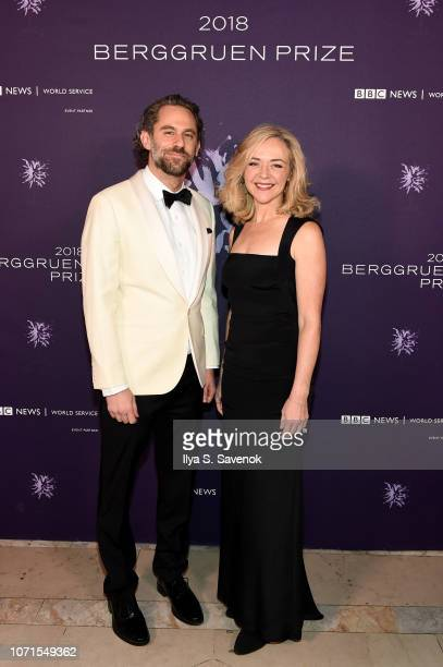 Jason Schuchman and Rachel Bay Jones attend the Third Annual Berggruen Prize Gala at the New York Public Library on December 10 2018 in New York City