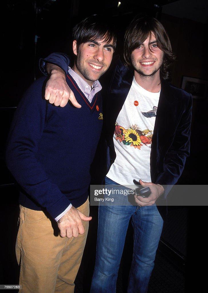 Jason Schwartzman & brother Robert Schwartzman at the Academy Theatre in Beverly Hills, California