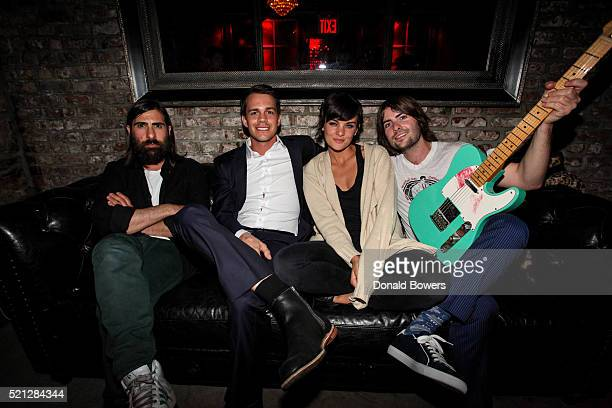 Jason Schwartzman Johnny Simmons Frankie Shaw and Robert Schwartzman attend The 2016 Tribeca Film Festival After Party For Dreamland At Berlin on...
